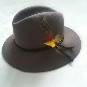 Lancaster wool vintage fedora hat feather